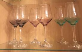Six New wine glasses