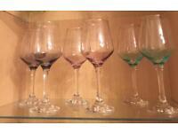 Six New wine glasses