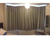 Curtains Grey Fabric (John Lewis) Width 1m70 Drop 1m90 Pair, black out