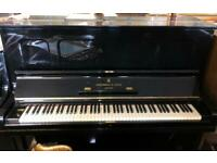 Steinway upright fully Restored 2019 in Poland Black polyester Free uk Ground floor delivery