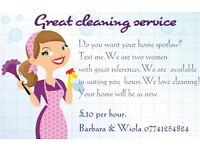 Great cleaning service £10 ph