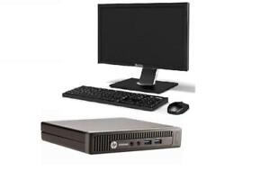 HP EliteDesk 705 G1 PC AMD A8 PRO-7600B @ 3.1GHz R7 / 8GB RAM / 256GB SSD / Wireless N with Monitor Keyboard and Mouse
