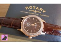 Rotary LS02907-16 Waterproof Brown Dial watch RRP £159