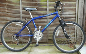 RALEIGH BSA Fusion Blue Front Suspension Shimano Clarks Selle Royal RETRO Mountain Bike 15 Speed £60