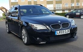 Black BMW 520 D MSPORT 59 reg in Excellent Condition Full Svc History 2 Owners