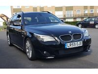 Black BMW 520 D MSPORT 59 reg in Excellent Condition Turbo Just Replaced by Dealer Full Svc History