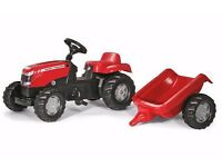 Rolly Kid Massey Fer­guson Tractor & Trai­ler Pedal Ride On