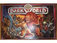 Dark World fantasy role playing board game, very rare, complete and in good condition.