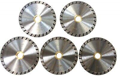 5pk 4 Granite Turbo Diamond Saw Blade For Angle Grinder Masonry Stone Bond