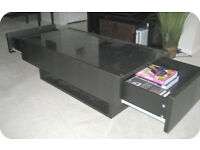 Ikea Storage coffee table with glass top And Drawers To Sides