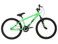 "Boys 'X Rated Exile' Dirt Jump Bike - Green - 24"" Wheels 13"" Frame - Like new - Unwanted gift - XMAS"