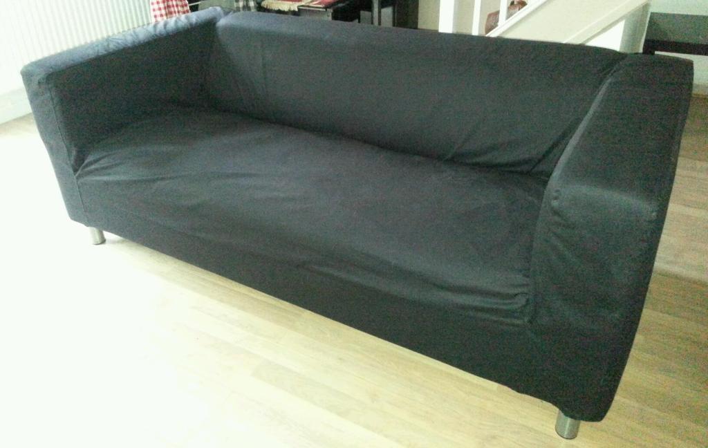IKEA KLIPPAN Two-seat sofa, Granån black in St Mellons