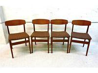 Vintage and rare 1970s mid century retro teak chairs in fantastic condition. Ercol Gplan era