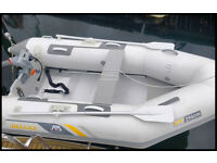 3m Aluminian floor dinghy / tender & electric outboard engine - Both 3 months old.