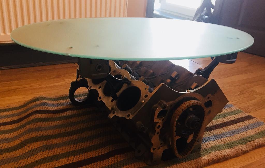 V8 Engine Coffee Table