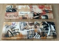 2 LARGE WALL ART CANVASES