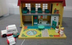 Vintage Fisher Price Hospital. Good condition. Smoke free and pet free home.
