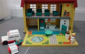 Vintage Fisher Price Hospital. From a smoke free and pet free home.