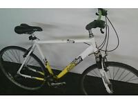 Raleigh Hybrid Bike, Serviced & Ready to Ride with LED Lights Large XL Size