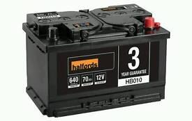 Halfords Lead Acid Battery HB010 - 3 Yr Guarantee