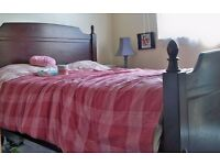 wooden solid double bed frame