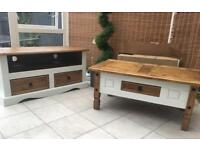 Coffee table Tv unit Set Shabby chic