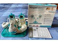 Angelcare Deluxe Baby Monitor with movement sensor pad and two parent units