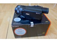Sony FDR-AX100E 4K Camcorder with a large 1-inch sensor.