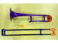 P Bone / Polybone One Off!! plastic trombone. Prototype fully functional multi coloured.
