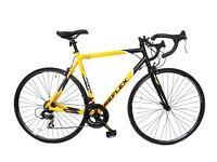 Reflex Men's Tour Road Bike - Yellow, 56 Cm