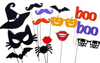 Halloween Photo Booth Props Masks Mustache On A Stick,Halloween Decorations,USA (Halloween Booth)