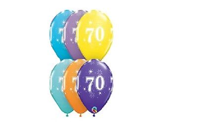 70th [6ct] Sparkle Anniversary Balloon Qualatex 70's Birthday Party Decorations