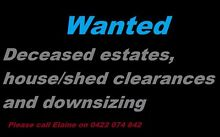 WANTED Deceased Estates, House/ Shed Clearances and downsizing. Morley Bayswater Area Preview