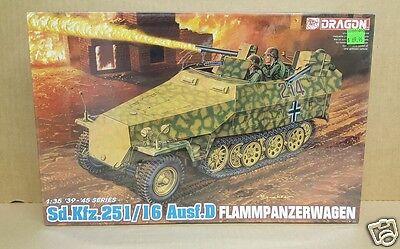 Dragon 6247 Sd.Kfz.251/16 Ausf.D Flammpanzerwagen 1/35 Scale WW2 Military Kit