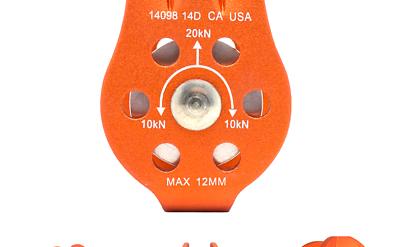 Fusion Climb Nuro Fixed Side Aluminum Pulley Orange 20KN - $14.09