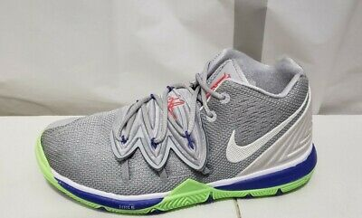 Nike Kyrie 5 Basketball Shoes Grey Lime Green AQ2456-099 GS Size 3Y