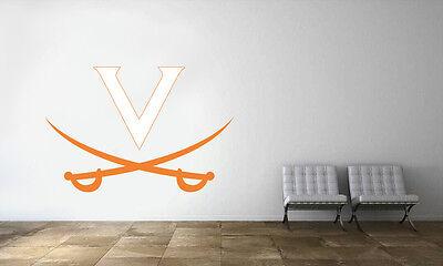 Virginia Cavaliers Logo NCAA Wall Decal College Football Decor Vinyl Mural -