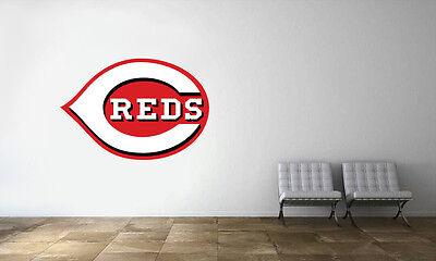 Cincinnati Reds Logo Wall Decal MLB Baseball Decor Sport Art Mural Vinyl - Baseball Wall Decor