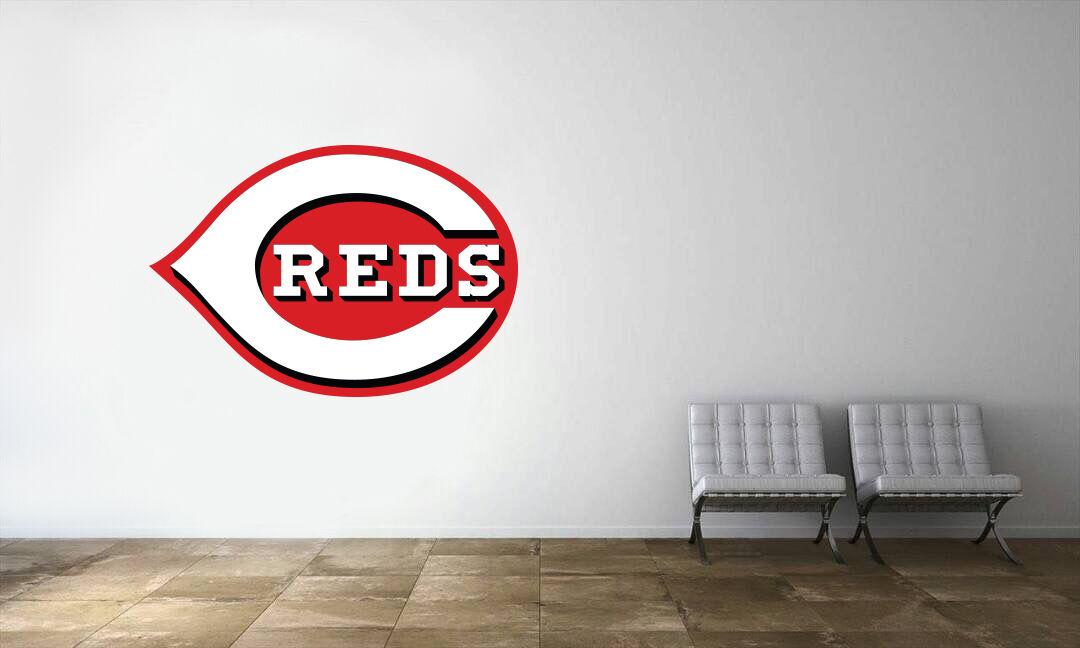 Cincinnati Reds Logo Wall Decal MLB Baseball Decor Sport Art