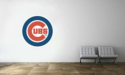 Chicago Cubs Logo Wall Decal MLB Baseball Decor Sport Mural Vinyl Sticker - Chicago Decorations