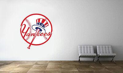 New York Yankees Logo Wall Decal MLB Baseball Decor Mural Vinyl - Baseball Wall Decor