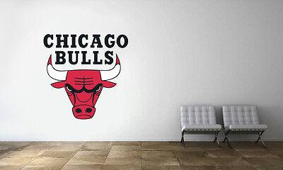 Chicago Bulls Logo Wall Decal NBA Basketball Decor Sport Art Mural Vinyl Sticker - Chicago Decorations