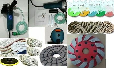 Variable Speed Stone Wet Dry Polisher Grinder Polishing Granite Concrete Marble