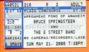 BRUCE-SPRINGSTEEN-CONCERT-TICKET-STUB-MAY-21-2000-THE-ARROWHEAD-POND-CALIFORNIA