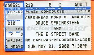BRUCE-SPRINGSTEEN-CONCERT-TICKET-STUB-MAY-21-2000-THE-ARROWHEAD-POND-CALIFORNIA