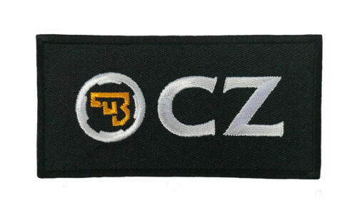 CZ Ceska Zbrojovka Iron/ Sew On Patch Guns Pistol Safe Handgun Police Army Bag