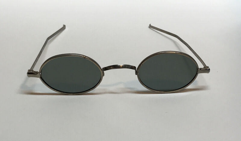 Antique Willson Oval Sunglasses Vtg Cool Steampunk Spectacles RARE!