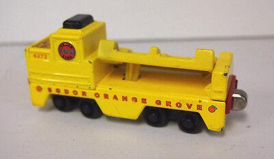 Gullane Thomas and Friends Take Along Diecast SODOR ORANGE GROVE Barrel Car