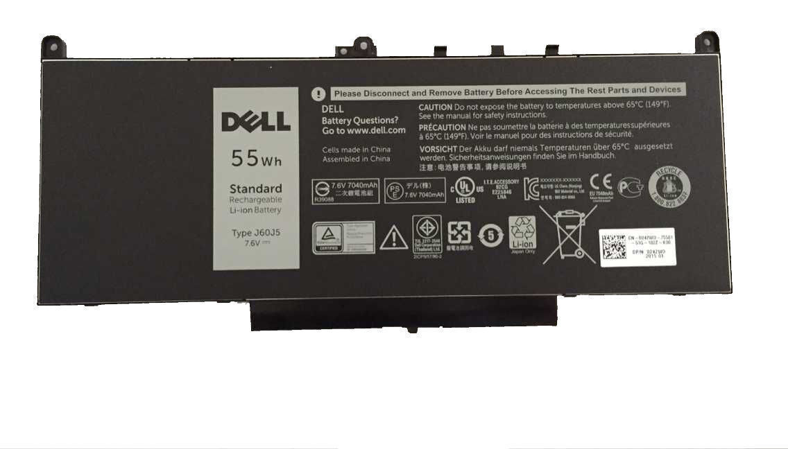 Genuine Original J60J5 Built-in Battery for Dell Latitude E7270 E7470 55Wh