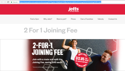 Joining Gym membership for $6.48